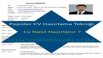 Popüler CV Hazırlama Tekniği