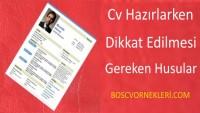 CV Hazırlanırken Dikkat Edilmesi Gereken Konular