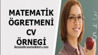 Matematik Öğretmeni CV Örneği