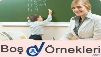 Öğretmenlik için CV Örneği