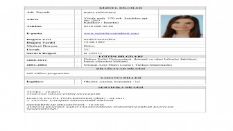Sosyal Hizmet Uzmanı CV Örneği